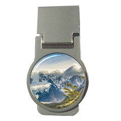 Snowy Andes Mountains, El Chalten Argentina Money Clips (round)  by dflcprints
