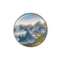 Snowy Andes Mountains, El Chalten Argentina Hat Clip Ball Marker by dflcprints