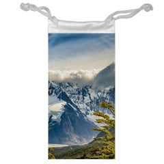 Snowy Andes Mountains, El Chalten Argentina Jewelry Bag by dflcprints