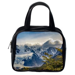 Snowy Andes Mountains, El Chalten Argentina Classic Handbags (one Side) by dflcprints