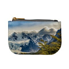 Snowy Andes Mountains, El Chalten Argentina Mini Coin Purses by dflcprints