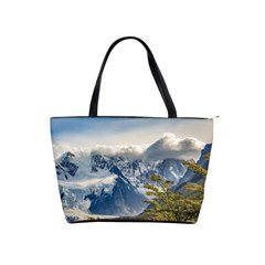 Snowy Andes Mountains, El Chalten Argentina Shoulder Handbags by dflcprints