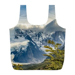 Snowy Andes Mountains, El Chalten Argentina Full Print Recycle Bags (l)  by dflcprints