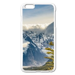 Snowy Andes Mountains, El Chalten Argentina Apple Iphone 6 Plus/6s Plus Enamel White Case by dflcprints
