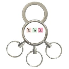 Think   Chemistry 3 Ring Key Chains by Valentinaart