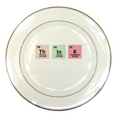 Think   Chemistry Porcelain Plates by Valentinaart