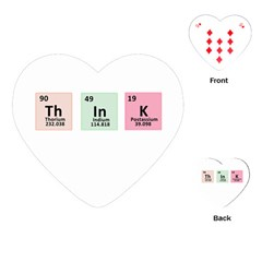 Think   Chemistry Playing Cards (heart)  by Valentinaart