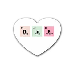 Think   Chemistry Heart Coaster (4 Pack)  by Valentinaart