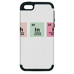 Think   Chemistry Apple Iphone 5 Hardshell Case (pc+silicone) by Valentinaart