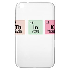 Think   Chemistry Samsung Galaxy Tab 3 (8 ) T3100 Hardshell Case  by Valentinaart