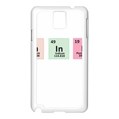 Think   Chemistry Samsung Galaxy Note 3 N9005 Case (white) by Valentinaart