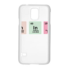 Think   Chemistry Samsung Galaxy S5 Case (white) by Valentinaart