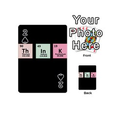 Think   Chemistry Playing Cards 54 (mini)  by Valentinaart