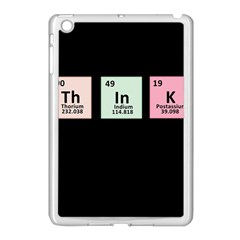 Think   Chemistry Apple Ipad Mini Case (white) by Valentinaart