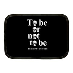 To Be Or Not To Be Netbook Case (medium)  by Valentinaart