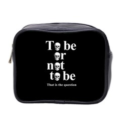 To Be Or Not To Be Mini Toiletries Bag 2 Side by Valentinaart