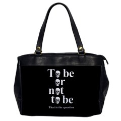 To Be Or Not To Be Office Handbags by Valentinaart