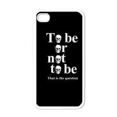To Be Or Not To Be Apple Iphone 4 Case (white) by Valentinaart