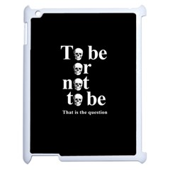 To Be Or Not To Be Apple Ipad 2 Case (white) by Valentinaart