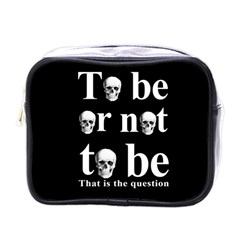 To Be Or Not To Be Mini Toiletries Bags by Valentinaart