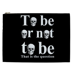 To Be Or Not To Be Cosmetic Bag (xxl)  by Valentinaart
