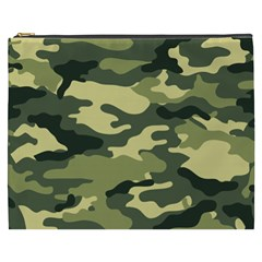 Camouflage Camo Pattern Cosmetic Bag (XXXL)  by Vayuart