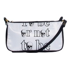 To Be Or Not To Be Shoulder Clutch Bags by Valentinaart