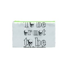 To Be Or Not To Be Cosmetic Bag (xs) by Valentinaart