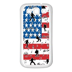 Elvis Presley Samsung Galaxy S3 Back Case (white) by Valentinaart