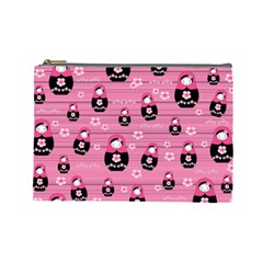 Matryoshka Doll Pattern Cosmetic Bag (large)  by Valentinaart