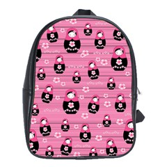 Matryoshka Doll Pattern School Bags (xl)  by Valentinaart