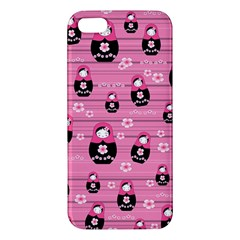 Matryoshka Doll Pattern Apple Iphone 5 Premium Hardshell Case by Valentinaart