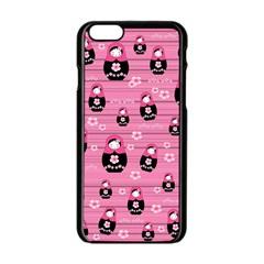 Matryoshka Doll Pattern Apple Iphone 6/6s Black Enamel Case by Valentinaart