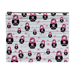 Matryoshka Doll Pattern Cosmetic Bag (xl) by Valentinaart