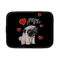 Love Pugs Netbook Case (small)  by Valentinaart