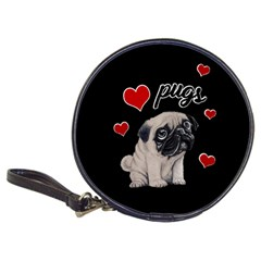 Love Pugs Classic 20 Cd Wallets by Valentinaart