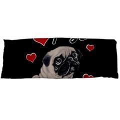 Love Pugs Body Pillow Case (dakimakura) by Valentinaart