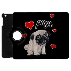 Love Pugs Apple Ipad Mini Flip 360 Case by Valentinaart