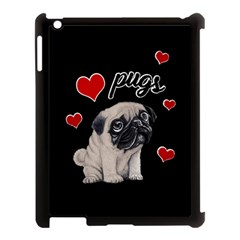 Love Pugs Apple Ipad 3/4 Case (black) by Valentinaart