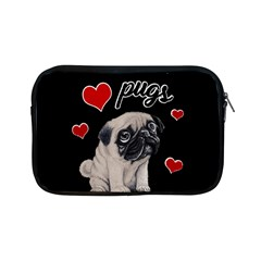 Love Pugs Apple Ipad Mini Zipper Cases by Valentinaart