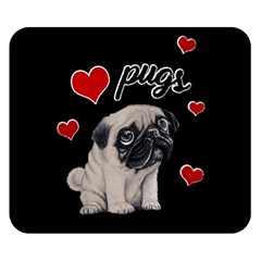 Love Pugs Double Sided Flano Blanket (small)  by Valentinaart