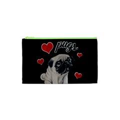 Love Pugs Cosmetic Bag (xs) by Valentinaart