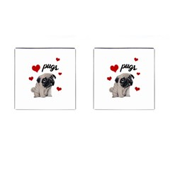 Love Pugs Cufflinks (square) by Valentinaart