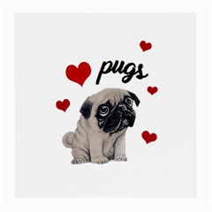 Love Pugs Medium Glasses Cloth (2 Side) by Valentinaart