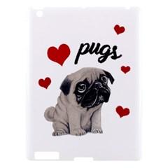 Love Pugs Apple Ipad 3/4 Hardshell Case by Valentinaart