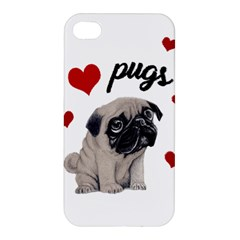 Love Pugs Apple Iphone 4/4s Premium Hardshell Case by Valentinaart