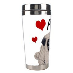 Love Pugs Stainless Steel Travel Tumblers by Valentinaart