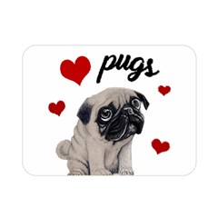 Love Pugs Double Sided Flano Blanket (mini)  by Valentinaart