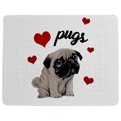 Love Pugs Jigsaw Puzzle Photo Stand (rectangular) by Valentinaart