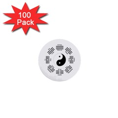 I Ching  1  Mini Buttons (100 Pack)  by Valentinaart